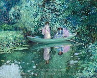 Gray Day on the River painting reproduction, Frederick Carl Frieseke