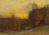 Grazing at Sunset painting reproduction, John Joseph Enneking