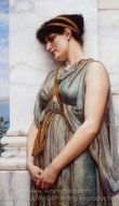 Grecian Reverie painting reproduction, John William Godward