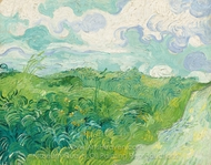 Green Wheat Fields, Auvers painting reproduction, Vincent Van Gogh