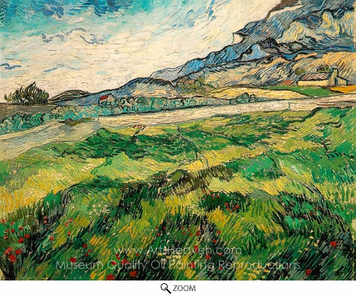 Vincent Van Gogh, Green Wheatfield oil painting reproduction