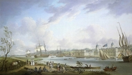 Greenwich from the Isle of Dogs painting reproduction, Robert Dodd