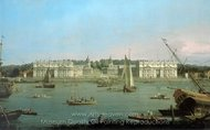 Greenwich Hospital from the North Bank of the Thames painting reproduction, Canaletto