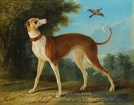 Greyhound in a Landscape painting reproduction, Jean-Baptiste Oudry