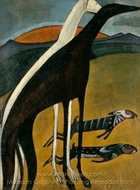 Greyhounds painting reproduction, Amadeo De Souza-Cardoso