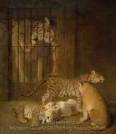 Group of Whelps Bred Between a Lion and a Tigress painting reproduction, Jacques Laurent Agasse