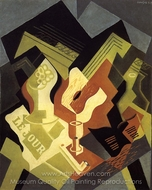Guitar and Fruit Dish painting reproduction, Juan Gris