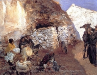 Gypsy Encampment painting reproduction, John Singer Sargent