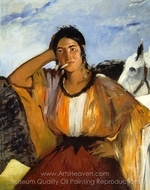 Gypsy with a Cigarette painting reproduction, �douard Manet