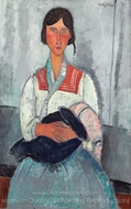 Gypsy Woman with Baby painting reproduction, Amedeo Modigliani