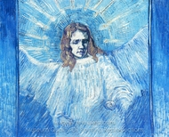 Half-Figure of an Angel (after Rembrandt) painting reproduction, Vincent Van Gogh