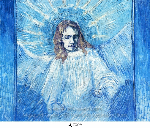 Vincent Van Gogh, Half-Figure of an Angel (after Rembrandt) oil painting reproduction