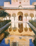 Hall of the Ambassadors, Alhambra, Granada painting reproduction, Joaquin Sorolla