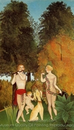 Happy Quartet painting reproduction, Henri Rousseau