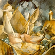 Harbor in Normandy painting reproduction, Georges Braque