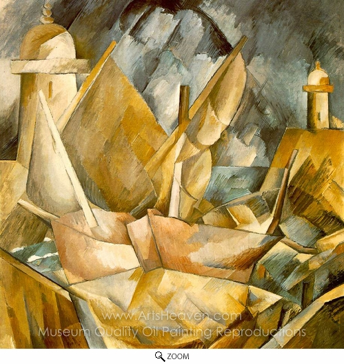 Georges Braque, Harbor in Normandy oil painting reproduction