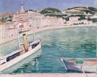 Harbour at Menton painting reproduction, Albert Marquet