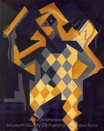 Harlequin with Violin painting reproduction, Juan Gris