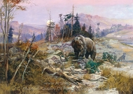 Harmless Hunter painting reproduction, Charles Marion Russell