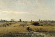 Harvest painting reproduction, Charles Daubigny