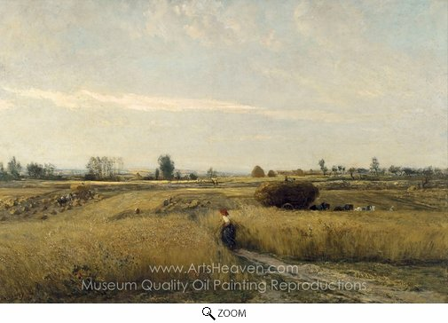 Charles Daubigny, Harvest oil painting reproduction