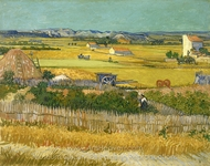 Harvest at La Crau painting reproduction, Vincent Van Gogh