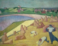 Harvest by the Sea painting reproduction, Emile Bernard