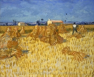 Harvest in Provence painting reproduction, Vincent Van Gogh
