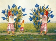 Harvest Time painting reproduction, Vioral Cristea