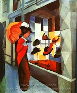 Hat Shop painting reproduction, August Macke
