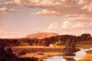 Haying Near New Haven, West Rock painting reproduction, Frederic Edwin Church