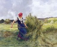 Haymaking painting reproduction, Julien Dupre