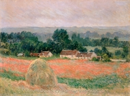 Haystack at Giverny painting reproduction, Claude Monet