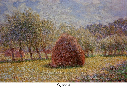 Claude Monet, Haystacks at Giverny oil painting reproduction