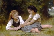 Hazelnuts (The Hazelnuts Gatherers) painting reproduction, William A. Bouguereau