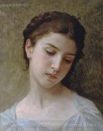Head of a Young Girl painting reproduction, William A. Bouguereau