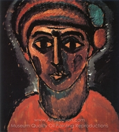 Head of a Young Man (Called Hercules) painting reproduction, Alexei Von Jawlensky