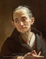 Head of an Old Woman painting reproduction, Ubaldo Gandolfi