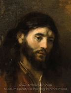 Head of Christ painting reproduction, Rembrandt Van Rijn