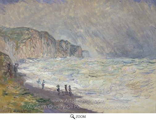Claude Monet, Heavy Sea at Pourville oil painting reproduction