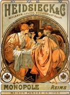 Heidsieck painting reproduction, Alfonse Mucha