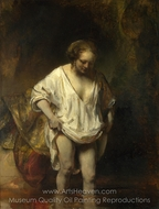 Hendrickje Bathing in a River painting reproduction, Rembrandt Van Rijn