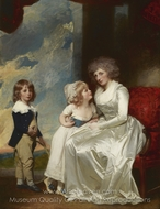 Henrietta, Countess of Warwick, and Her Children painting reproduction, George Romney