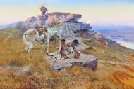 Her Heart is on the Ground painting reproduction, Charles Marion Russell