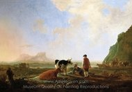 Herdsmen with Cows painting reproduction, Aelbert Cuyp