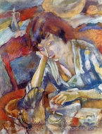 Hermine painting reproduction, Jules Pascin