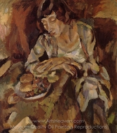Hermine with Fruit painting reproduction, Jules Pascin