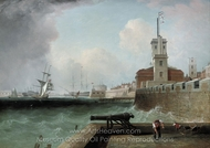 High Tide Below the Battery, Portsmouth Harbour painting reproduction, John Lynn