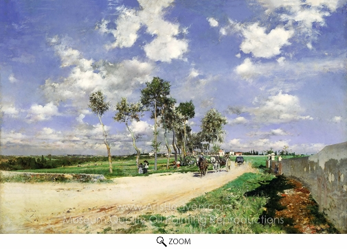 Giovanni Boldini, Highway of Combes-la-Ville oil painting reproduction
