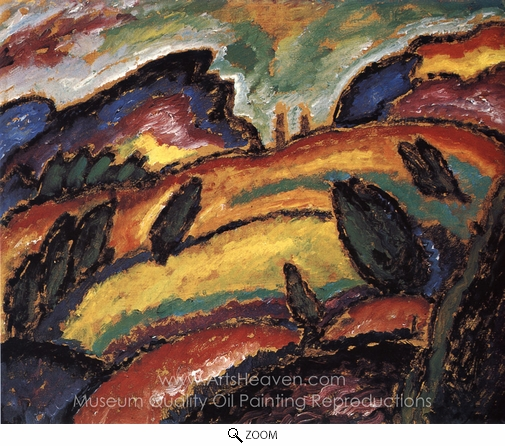 Alexei Von Jawlensky, Hills oil painting reproduction